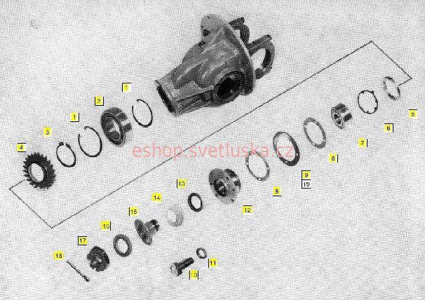 Zadní náprava H5 Multicar M25